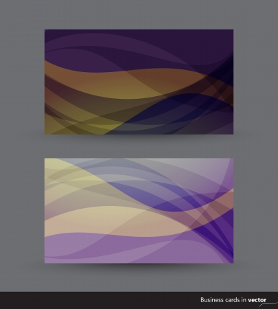 dark purple: Two business cards in dark purple and yellow shades