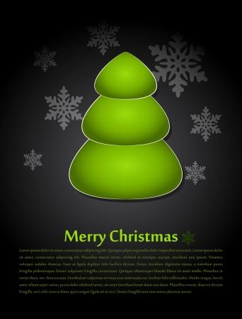 Christmas card with an abstract Christmas tree Stock Vector - 15323411