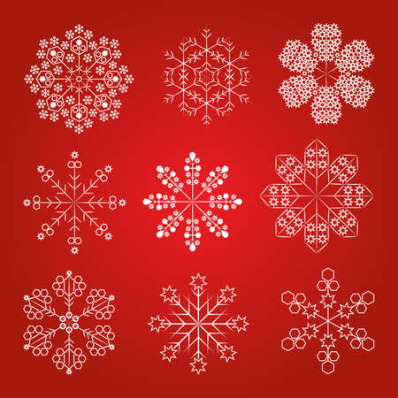 Collection of christmas snowflakes, vector Stock Vector - 16059417