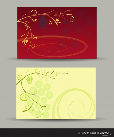 Wine cards in two versions, vector Vector