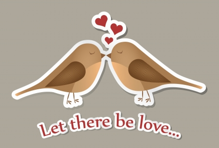 Two birds in love in vector Vector