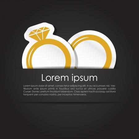 anillos de boda: Anuncio de la boda simple con anillos de matrimonio para él y para ella