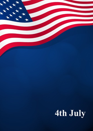 us flag: Vector background for Independence Day and other events