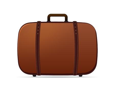 serf: Vieux r�tro vecteur valise isol� sur blanc