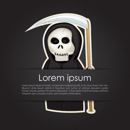 Simple card with a Death with a scythe Vector