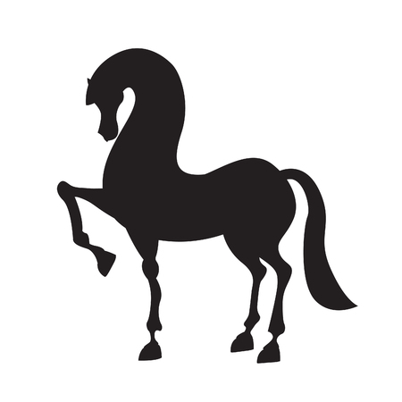 year of horse: Horse silhouette