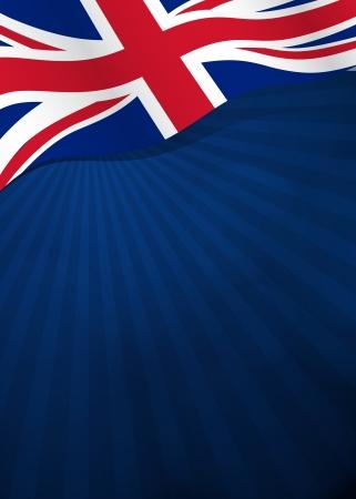 Vector achtergrond met Groot-Brittannië vlag in vector Stock Illustratie