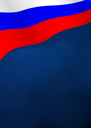russian flag: Vector background with Russian flag in vector Illustration