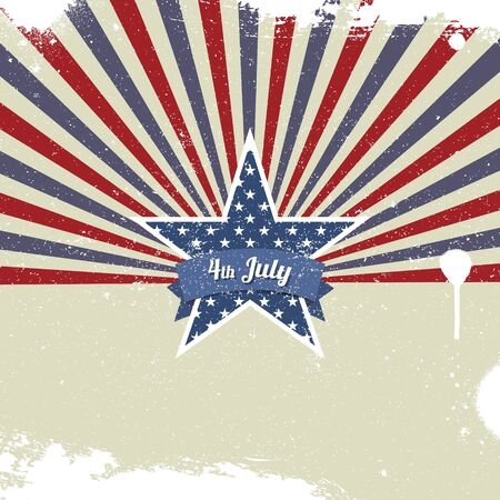 independence day america: Vector retro background for Independence Day and other events Illustration