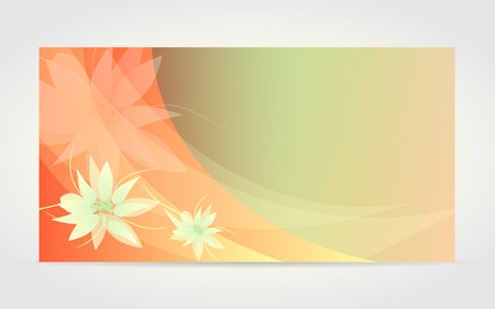 vintage banner: Abstract flower card with vanilla flowerf Illustration