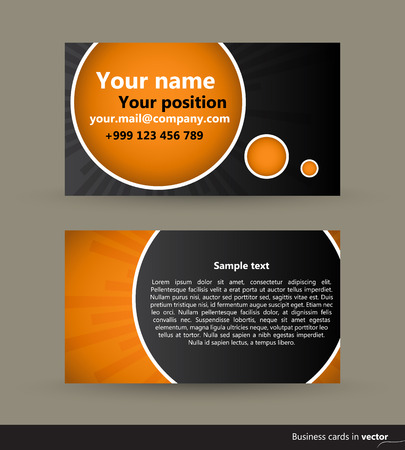 eps: Abstract modern visit cards, front and back side, vector, EPS 10