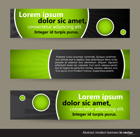 eps 10: Collection of abstract horizontal bubble banners, vector, EPS 10 Illustration