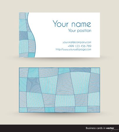 eps: Blue abstract visit card, front and back side, vector, EPS 10 Illustration