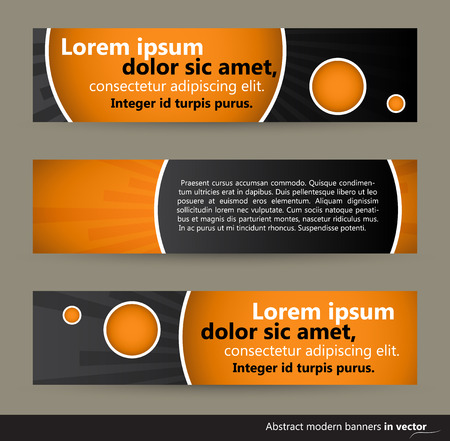 Collection of abstract horizontal bubble banners, vector, EPS 10 Vectores