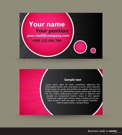 site backgrounds: Abstract modern visit cards, front and back side, vector, EPS 10