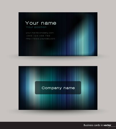 commercial painting: Abstract business card, vector