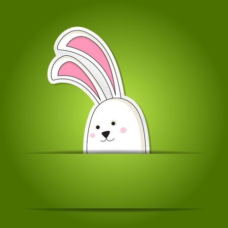 hunt: Simple card with a simple Easter rabbit in a pocket