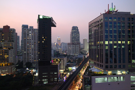 eventide: Evening sky on Bangkok twilight.
