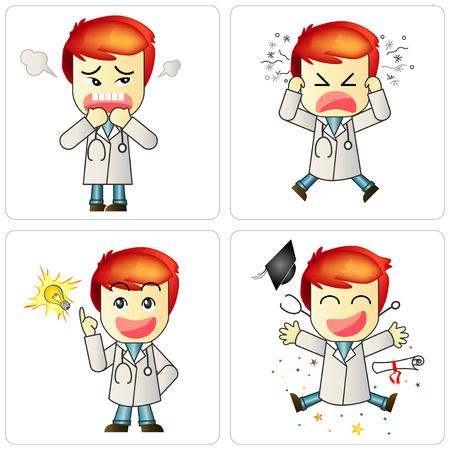 restlessness: Doctors 4 emotion. Illustration