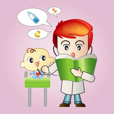 pediatra: Pediatra con un bebé.