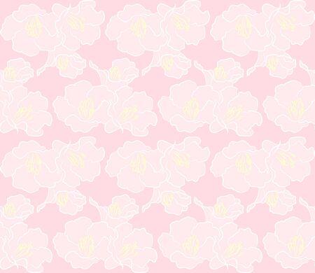 pink flower: Pink flower seamless pattern Illustration