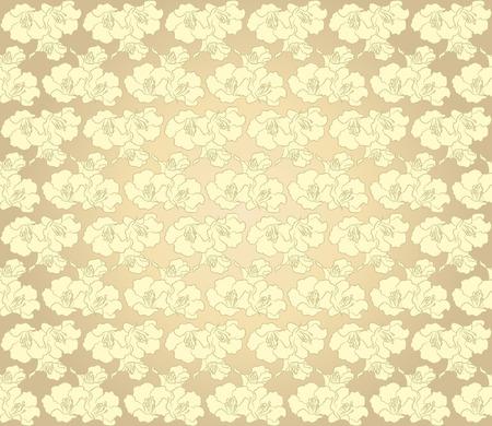 resplendent: Golden flower background Illustration