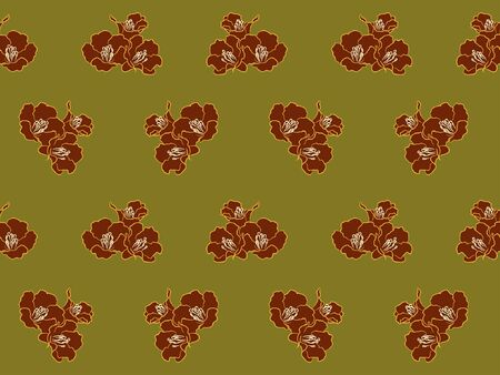 verdant: Red flower on green pattern