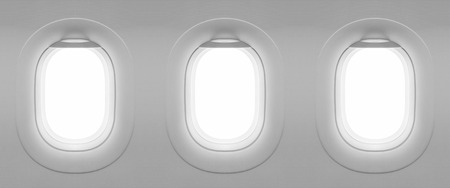 airplane: 3 Blank window plane