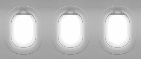 ventanas: 3 en blanco plano de la ventana
