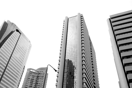 inexpressive: High building in capital city. Stock Photo