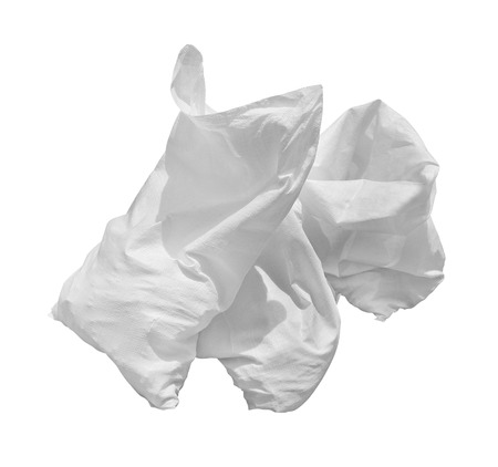 plastic bags: White plastic bags.