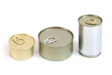 3 grootte aluminium kan voedsel geïsoleerd worden.