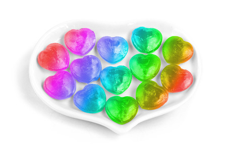 beloved: Rainbow heart candy Stock Photo