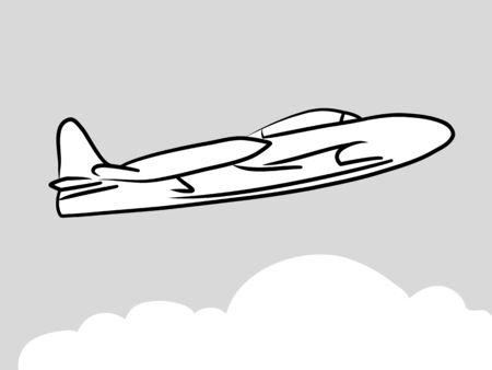scrawl: Aircraft logo Illustration