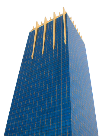 inexpressive: Blue building in capital city