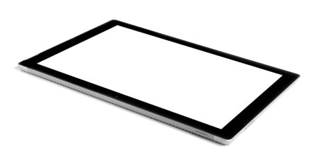 blank tablet: Blank tablet isolated on white.