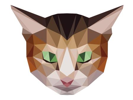 brown: Brown cat low polygon Illustration