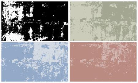 background textures: Vector set of grunge textures background