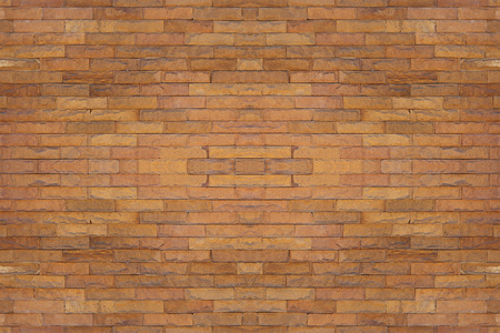 knobby: Seamless red brick wall, flat brown old stone background, square block pattern. Stock Photo