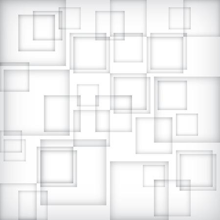 Tabular gray box banner. Square grey block background. Gradient shadow wallpaper. White window pattern. Modern geometric cube vector. Banco de Imagens - 85935872