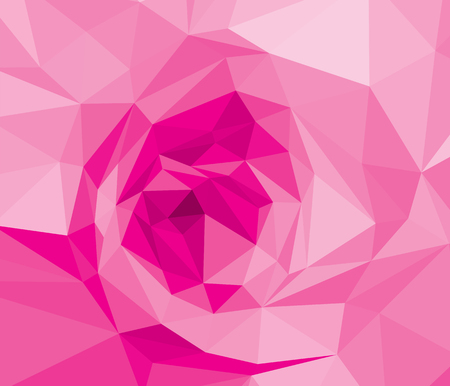 Pink rose wallpaper background wedding. Purple flora plant geometric banner graphic. Red low polygon backdrop. Magenta lower polygonal crystal style illustration.