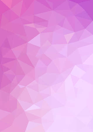 Glitter pink purple wedding wallpaper background, violet abstract geometric graphic banner, magenta low polygon style backdrop. 向量圖像