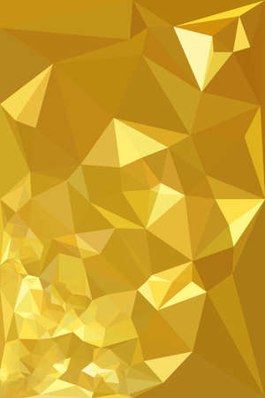 Colorful low polygon pastel background, yellow polygonal texture, vivid gold vector backdrop, golden geometric technology banner, abstract triangular wallpaper, shiny crystal design.
