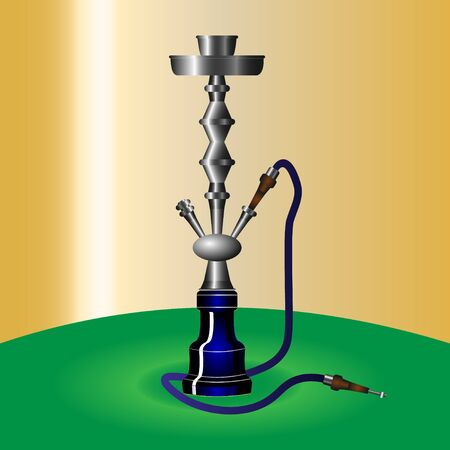 Hookah with pipe for smoking tobacco and shisha.