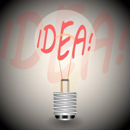 Electric light bulb as a symbol of ideas, vector illustration Ilustracja