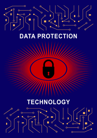 The concept of protection. System Protection technology. poster cover, screen. Vector illustration