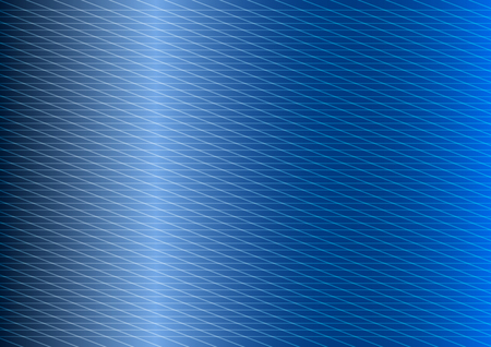 blue metal texture background with parallel thin light lines. Vector Illustration