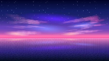 Beautiful Early morning, pink sunrise over sea