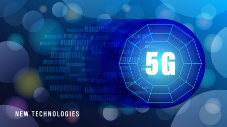 5G new technologies wireless internet wifi connection banner