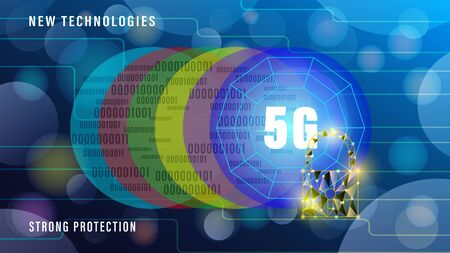 5G new technologies wireless internet wifi connection banner, Illustration